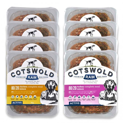 80/20 Active Chicken and Turkey mince - 1kg packs (Delivery Included)